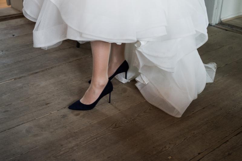 Bride Feet On Floor