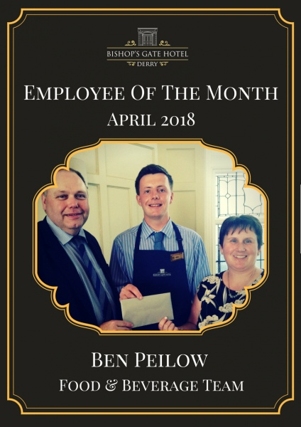 Employee Of The Month April 2018