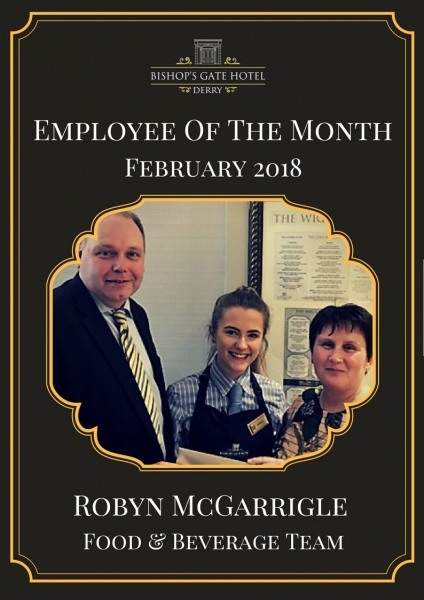 Employee Of The Month Robyn McGarrigle